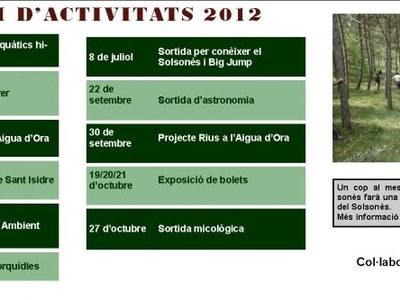 Calendari d'activitats del GNS 2012