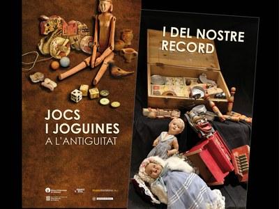 Dues exposicions en una: jocs i joguines a l'antiguitat i del nostre record