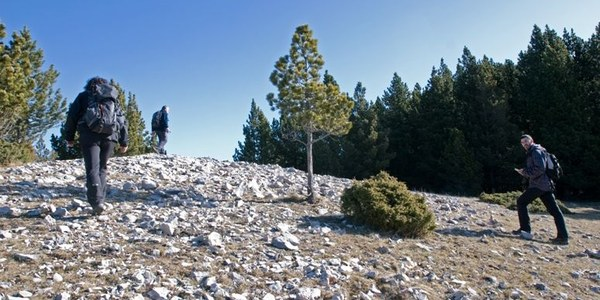 Poca neu a la sortida al Puig Sobirà