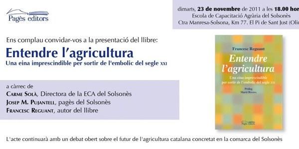 """Presentació al Solsonès del llibre """"Entendre l'Agricultura"""""""